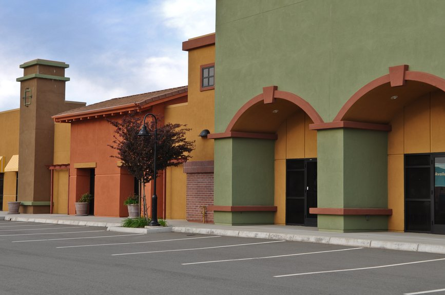 New Shopping Center Store Front